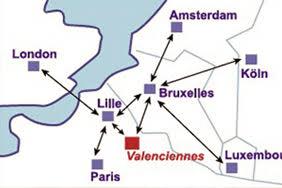 grands axes proches de Valenciennes
