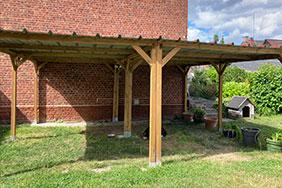 jardin avec arbres fruitiers